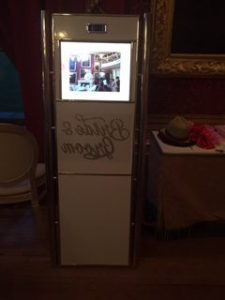 Video booth for weddings & events. Takes photos & videos
